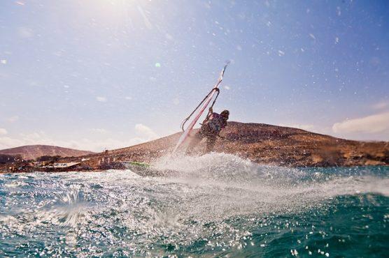wind surfen in spanje